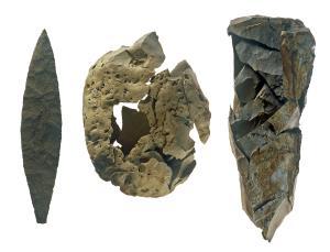 上ノ平遺跡C地点の旧石器時代の石器